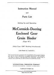 McCormick-Deering Enclosed Gear Grain Binder