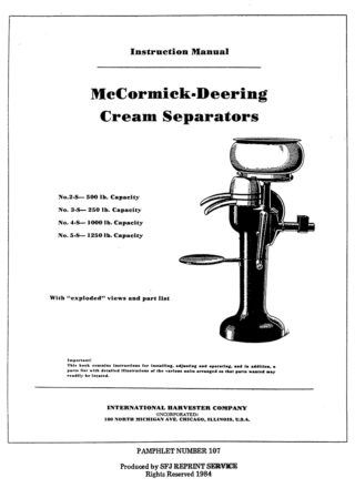 McCormick-Deering Cream Separators