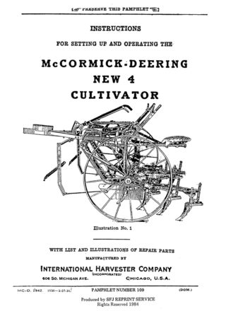 McCormick-Deering New 4 Cultivator