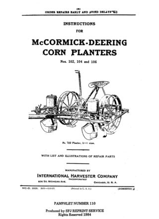 McCormick-Deering Corn Planters