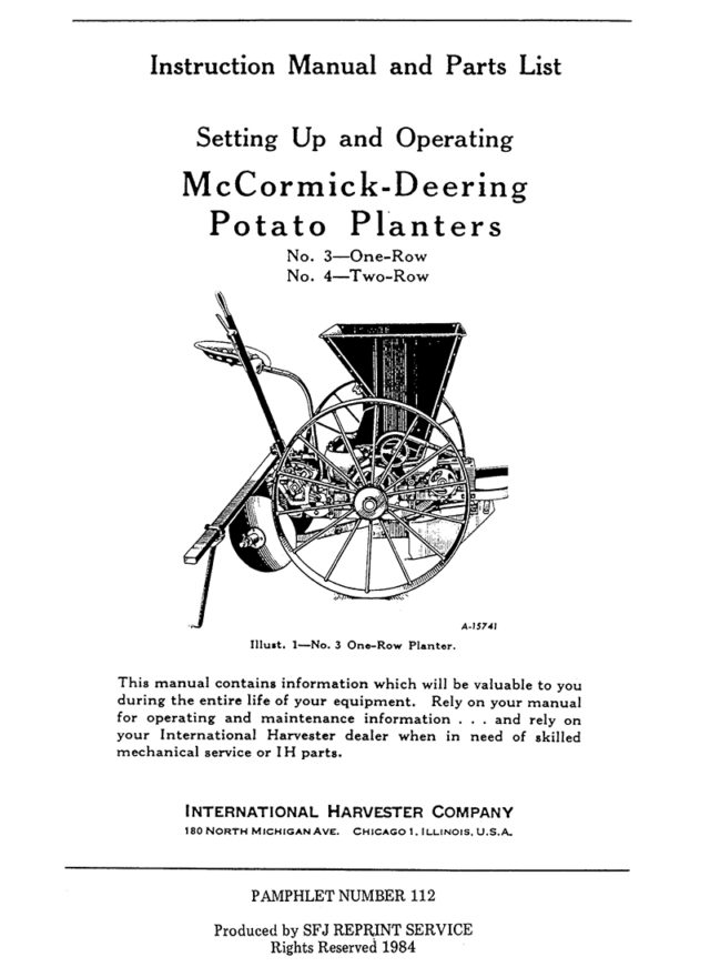 McCormick-Deering Potato Planters