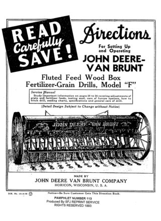 John Deere-Van Brunt Grain Drills