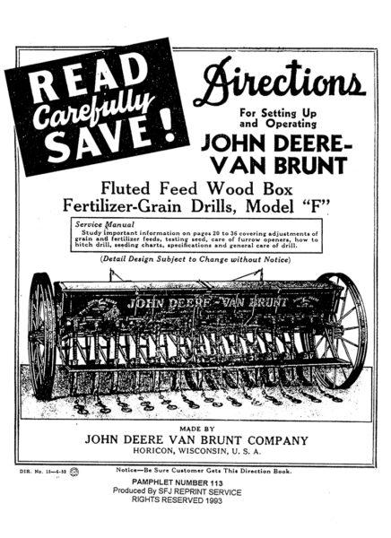 John Deere-Van Brunt Grain Drills