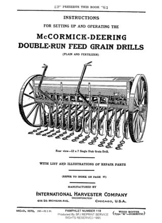 McCormick-Deering Double-Run Feed Grain Drills