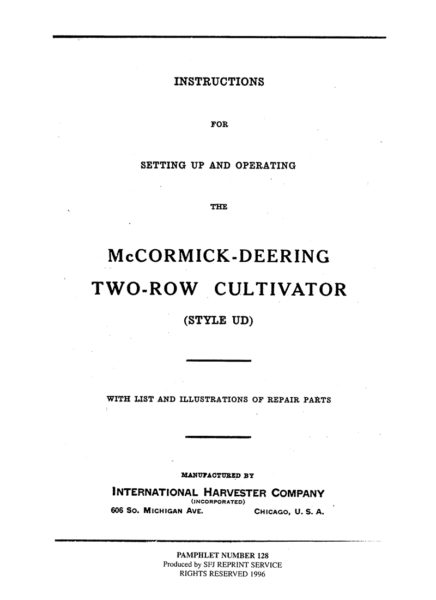 McCormick-Deering Two-Row Cultivator