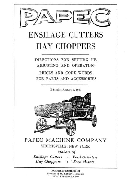 Papec Ensilage Cutters Hay Choppers