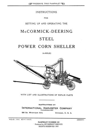 McCormick-Deering Steel Power Corn Sheller