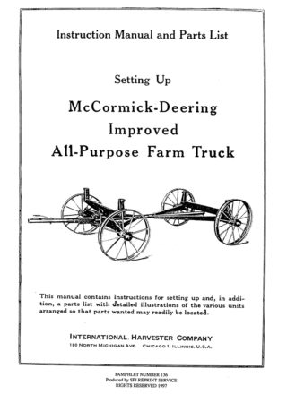 McCormick-Deering Improved All-Purpose Farm Truck