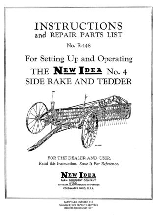 New Idea No. 4 Side Rake and Tedder