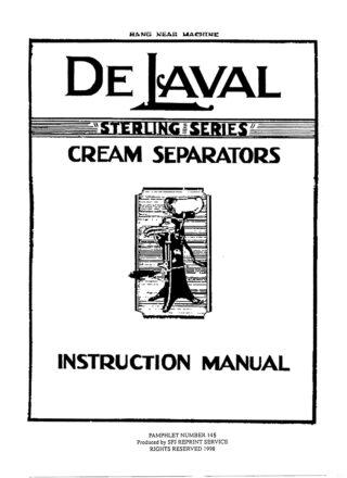 De Laval Cream Separators
