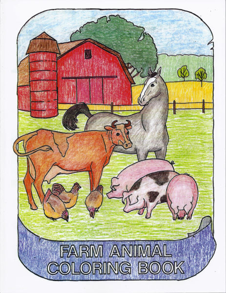 """SFJ Farm Animal Coloring Book"" by Lynn & Kristi Miller"