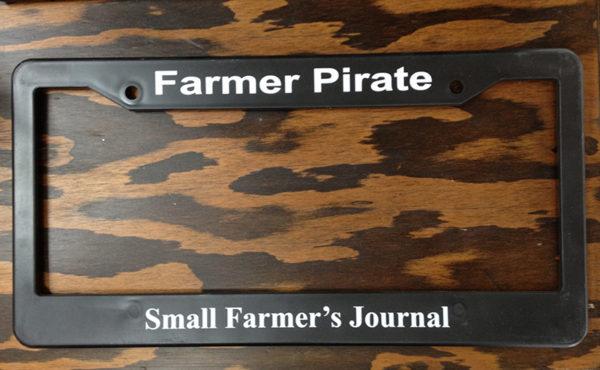 """Farmer Pirate"" License Plate Frame"