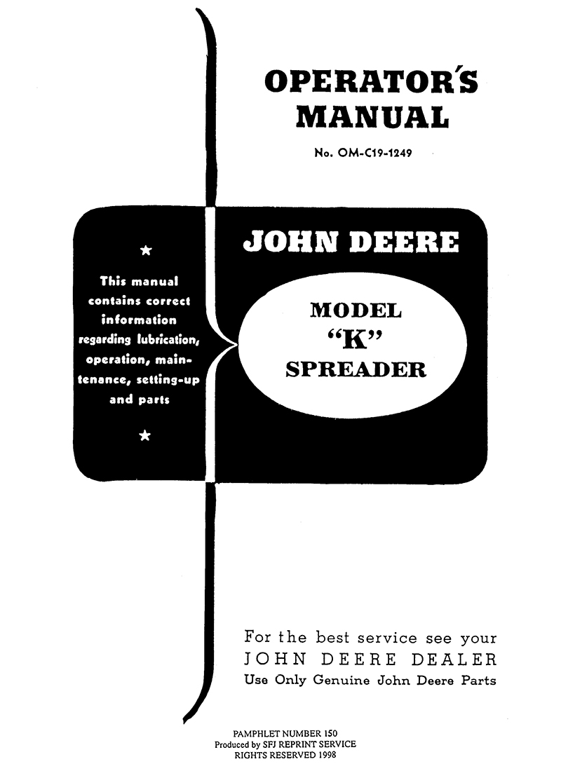 John Deere Model K Spreader