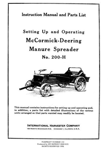 McCormick-Deering Manure Spreader No. 200-H