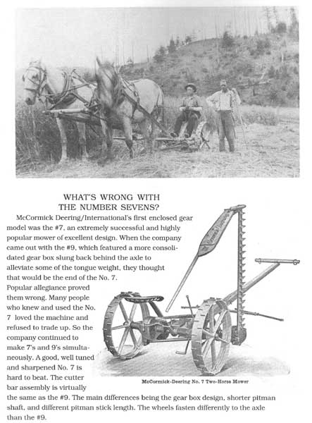 McCormick Deering/International No. 7 Mower