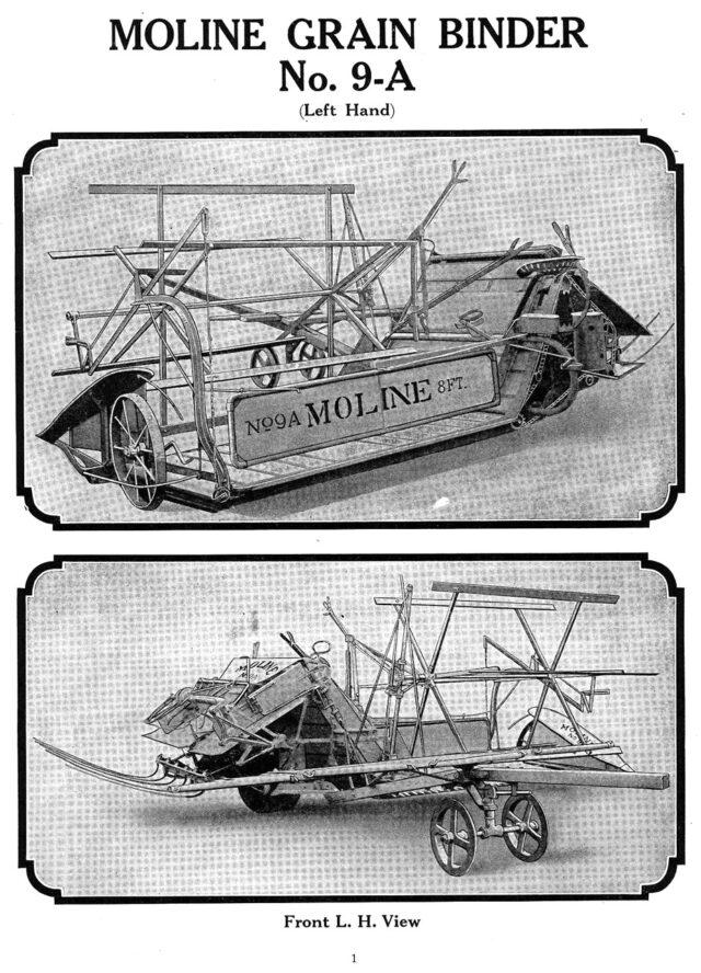 M-160 Moline Grain Binder No 9A