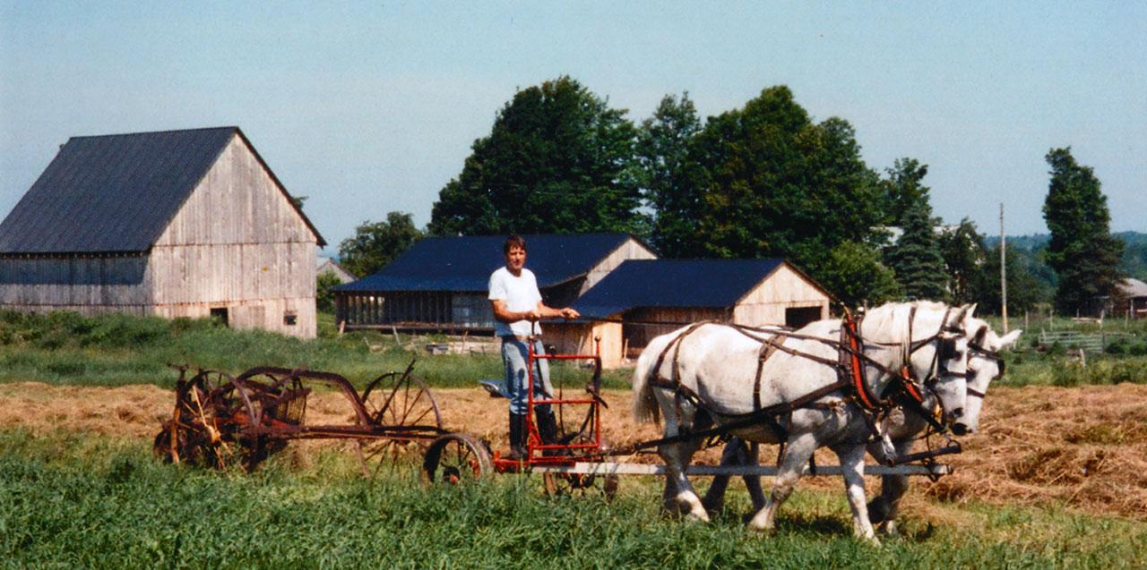 Richard Douglass, Self-sufficient Farmer
