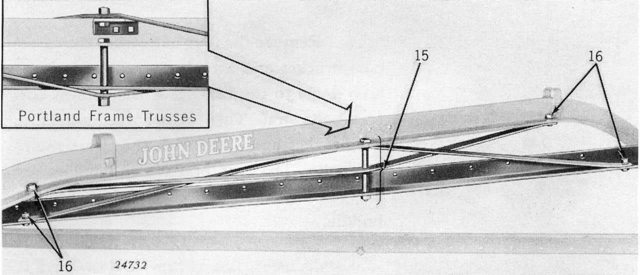 John Deere Side Delivery Rake No 594