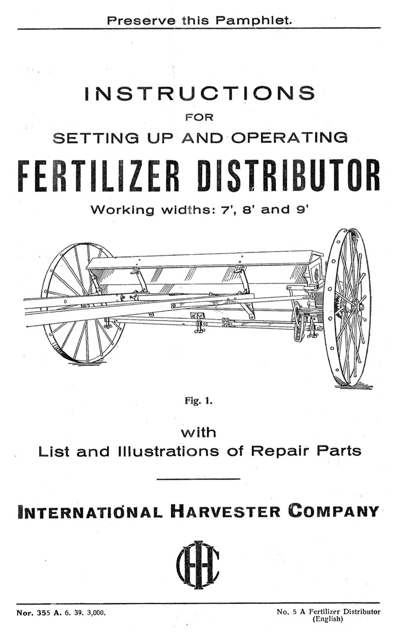 International Harvester Fertilizer Distributor
