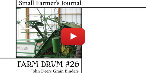 Farm Drum 26 John Deere Grain Binders