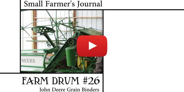 Farm Drum 26 John Deere Grain Binders