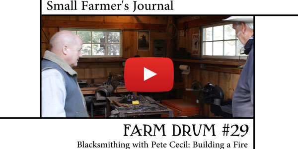 Blacksmithing with Pete Cecil Building a Fire