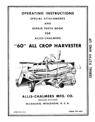 M-161 Allis-Chalmers 60 All Crop Harvester