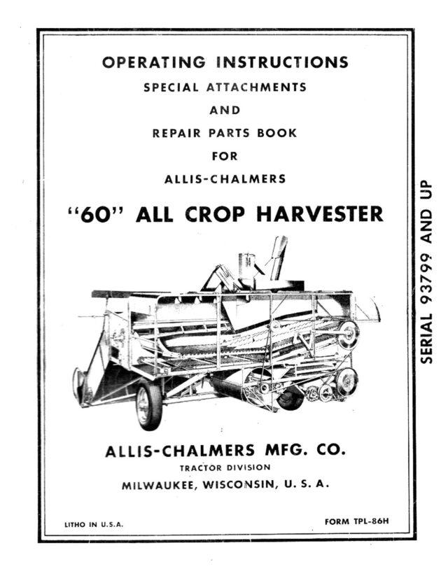 M-161 Allis-Chalmers 60 All Crop Harvester