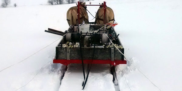 Horse Powered Snow Fencing and Sleigh Fencing
