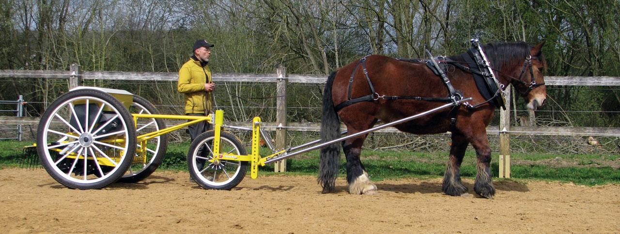 New Horsedrawn Minimum Till Seed Drill