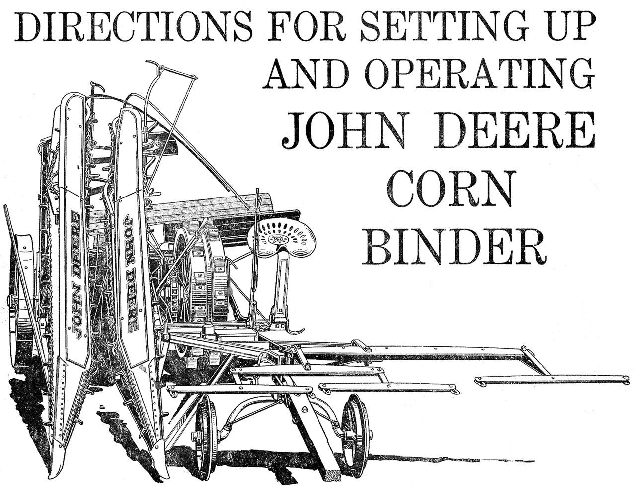 John Deere Corn Binder – Small Farmer\'s Journal