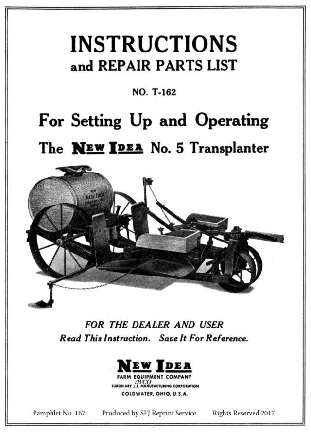 M-167 New Idea No. 5 Transplanter