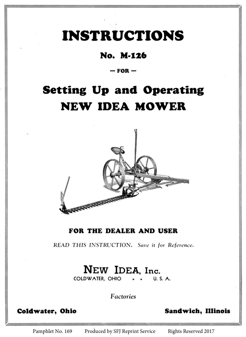 M-169 New Idea Mower
