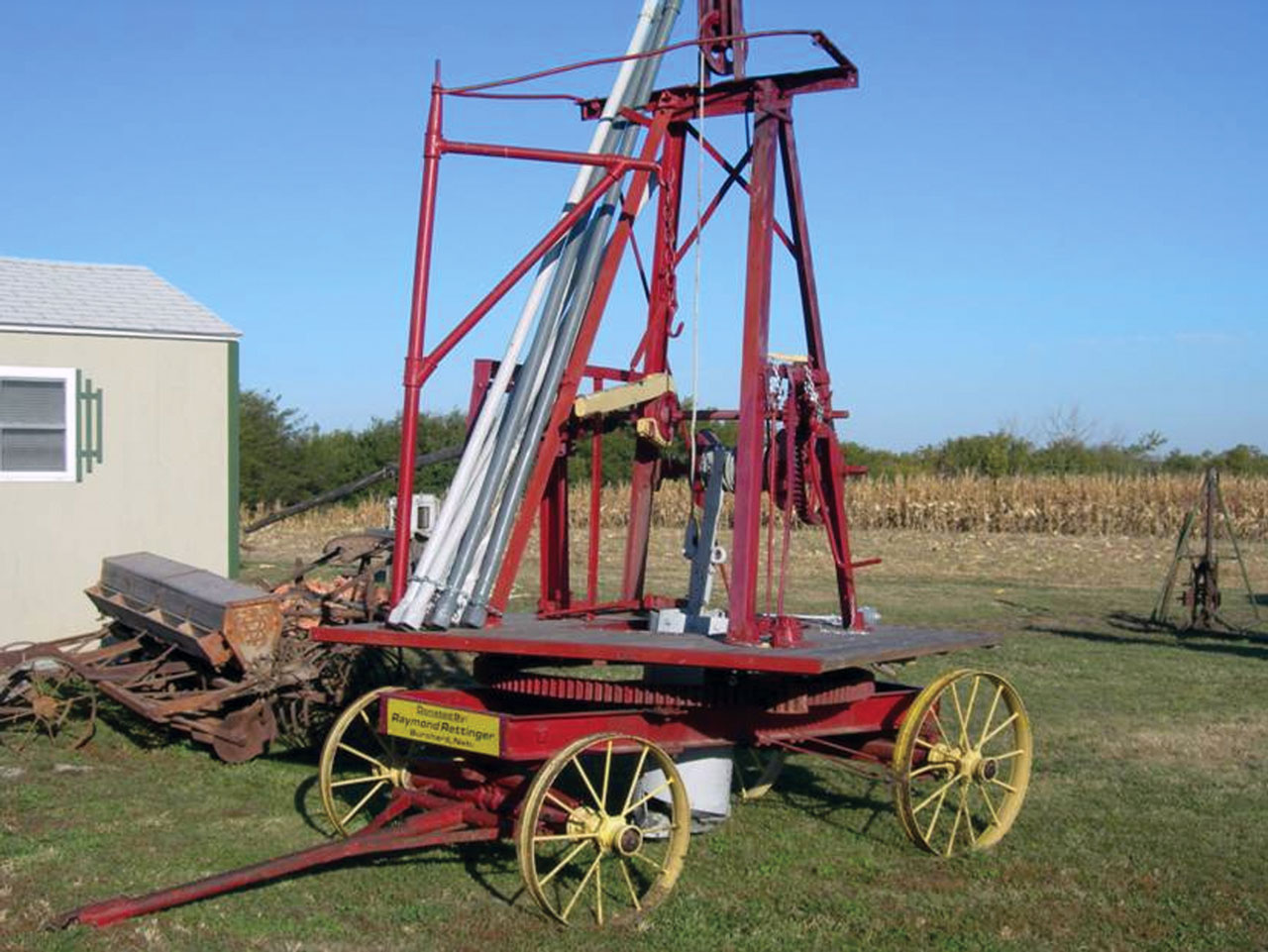 Horsedrawn Dempster Well Driller