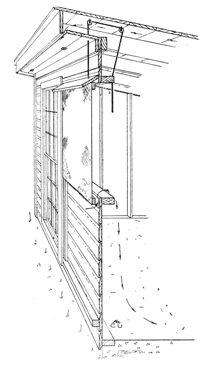 Ventilation of the Cornell Open Front Poultry House