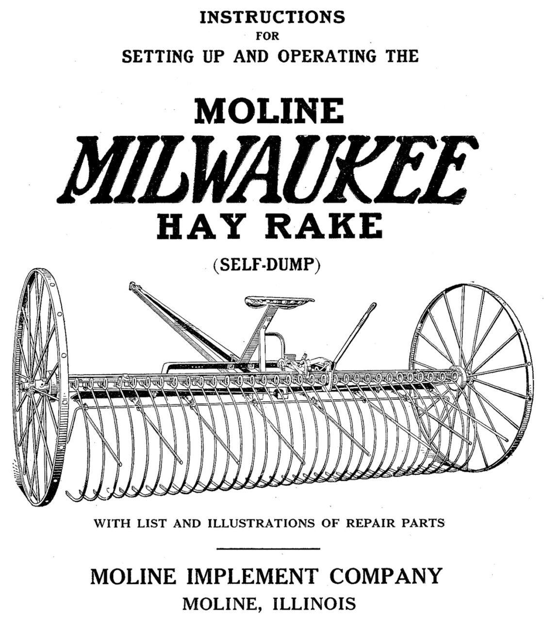 Moline Milwaukee Hay Rake