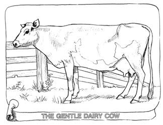 Farm Animal Coloring Book Page 18