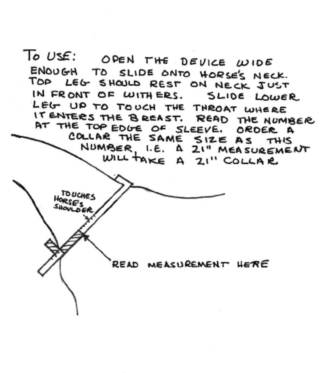 Homemade Collar or Neck Measuring Device